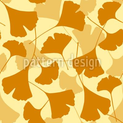 Autumnal Ginkgo Vector Ornament