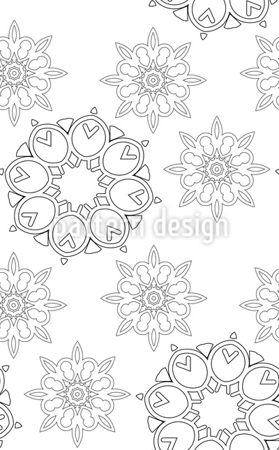Simple Mandalas Seamless Vector Pattern Design