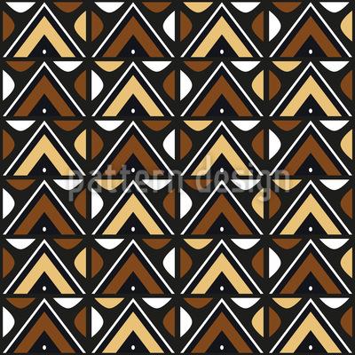 Zulú sudafricano Estampado Vectorial Sin Costura