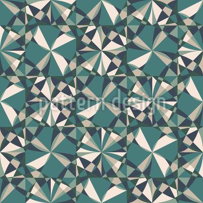 Espelho fractal Design de padrão vetorial sem costura