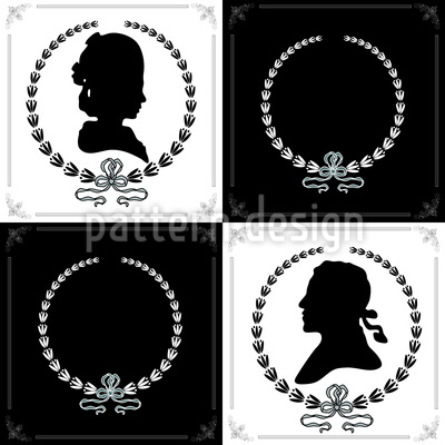 Cameo Elegance Seamless Vector Pattern Design