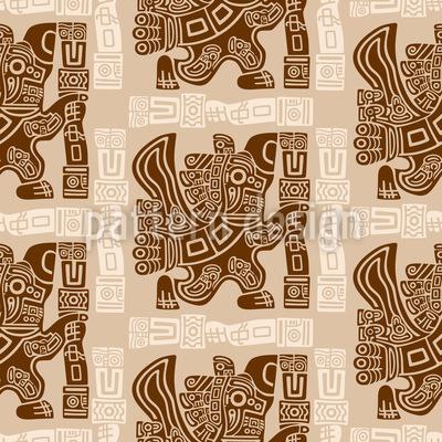 Aztec Eagle Warrior Vector Design