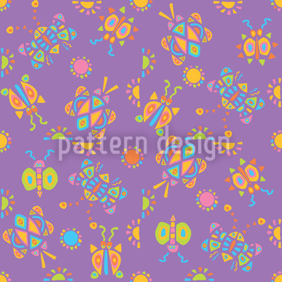 Tingle Tangle Violet Seamless Vector Pattern Design