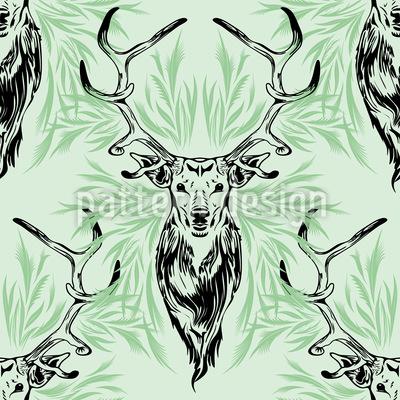 Hirsch Porträt Vektor Muster