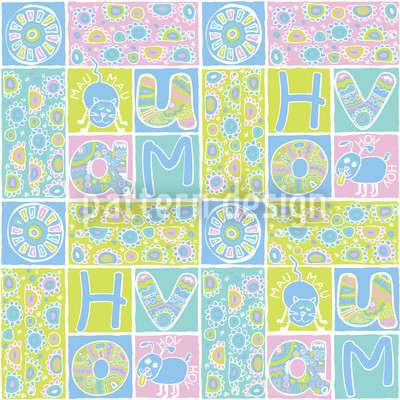 Patchwork Haustiere Rapportmuster