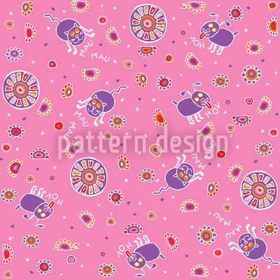 Cute Pet Babies Seamless Vector Pattern Design