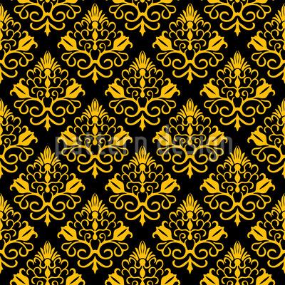 Elegant Floral Damask Vector Pattern