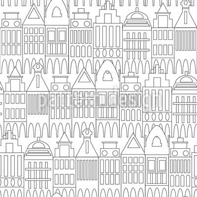 Na Minha Cidade Design de padrão vetorial sem costura