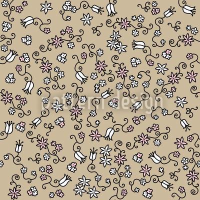 Blütenmeer Auf Sand Vektor Design