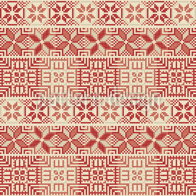 Palestinian Embroidery Seamless Vector Pattern Design