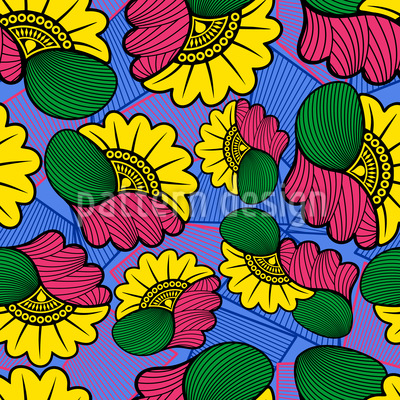 Wax African Cloth Seamless Vector Pattern Design