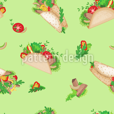 Tacos And Burritos Repeat Pattern
