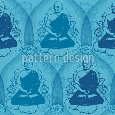 Entspannung Mit Buddha Nahtloses Vektor Muster
