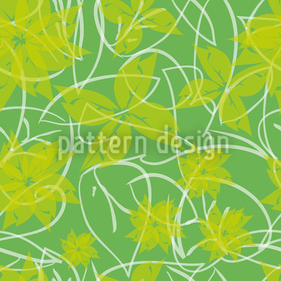 Fresh Flowers Vector Pattern