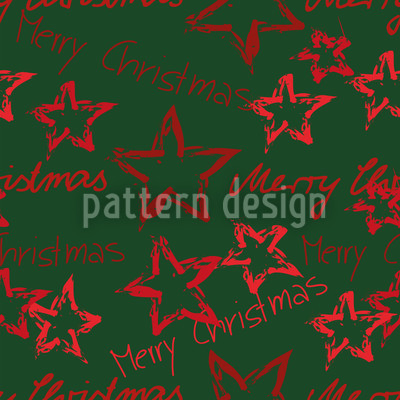 Merry Christmas Grün Muster Design