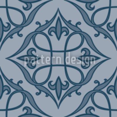 Renaissance Blau Vektor Ornament