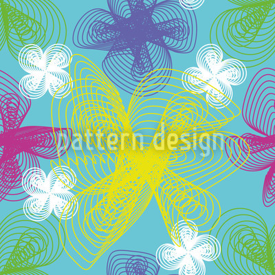 Spiral Flowers Seamless Vector Pattern Design