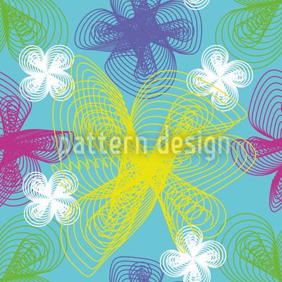 Spiralblumen Nahtloses Muster