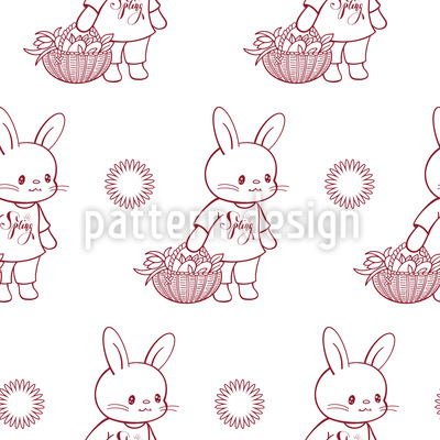 Spring Bunnies Repeat Pattern