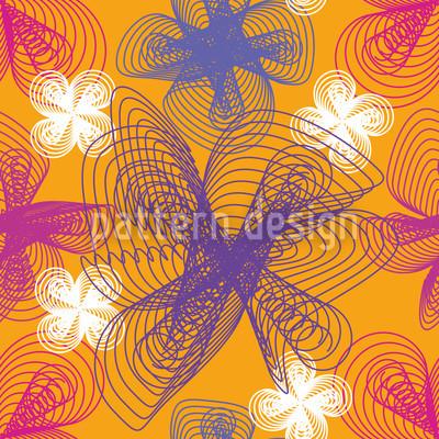 Spiralflowers Saffron Seamless Vector Pattern Design