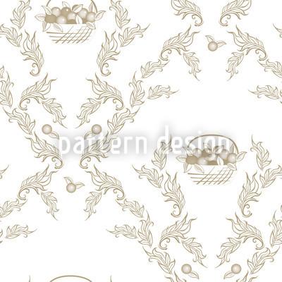 Petit Panier Brun Nahtloses Vektor Muster