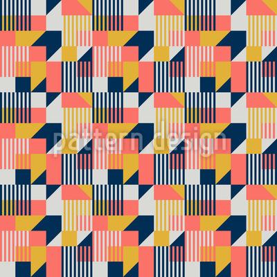Estilo Bauhaus Estampado Vectorial Sin Costura