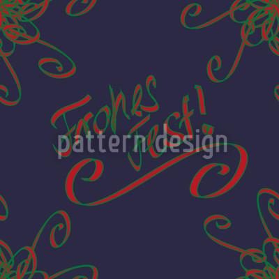 Festtage Blau Nahtloses Vektor Muster
