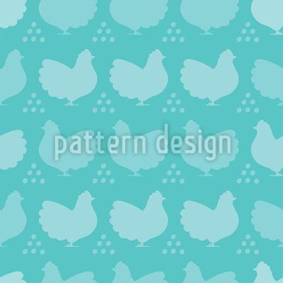 Hühner und Eier Silhouetten Vektor Design