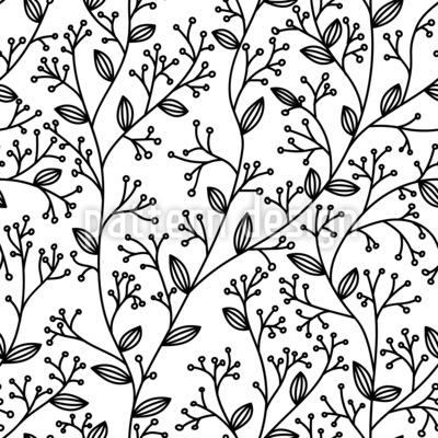 Simple Foliage Seamless Vector Pattern Design