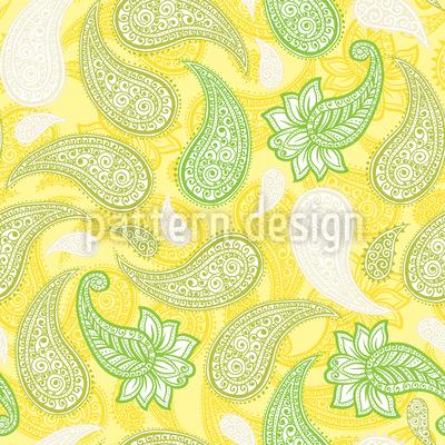 Limoncello Paisleys Nahtloses Vektor Muster