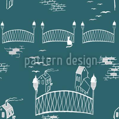 Boardwalks To The Kitten Bridge Vector Pattern