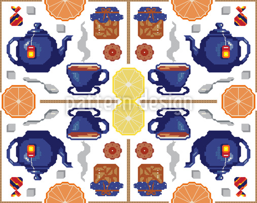 Videospiel Tee Nahtloses Vektor Muster