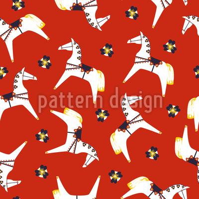 Dalecarlica Horse Pattern Design