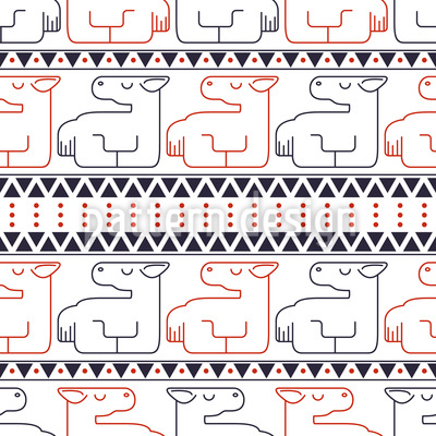 Lying Horses Seamless Vector Pattern