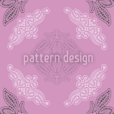 Lacy Ida Violet Vector Ornament