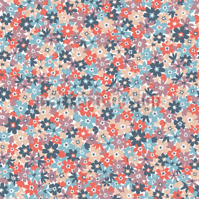 Blumenbeet In Voller Blüte Nahtloses Vektormuster