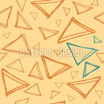 Triángulo garabateado Estampado Vectorial Sin Costura
