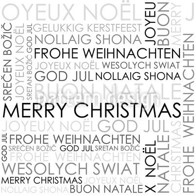 Desejos de Natal Design de padrão vetorial sem costura
