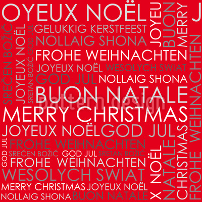 Christmas Greetings Red Repeating Pattern