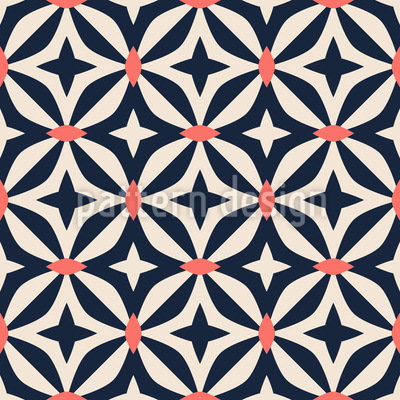 Abstract Moroccan Shapes Repeating Pattern