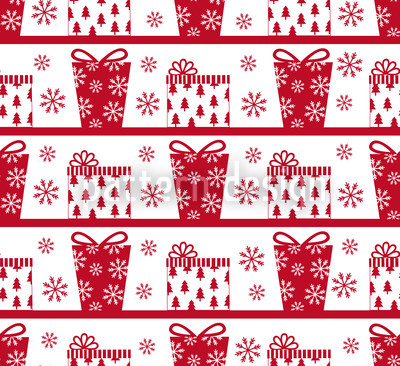 Parcel Delivery Red Vector Pattern