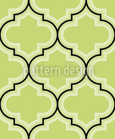 Retro Marokko Grün Nahtloses Vektormuster