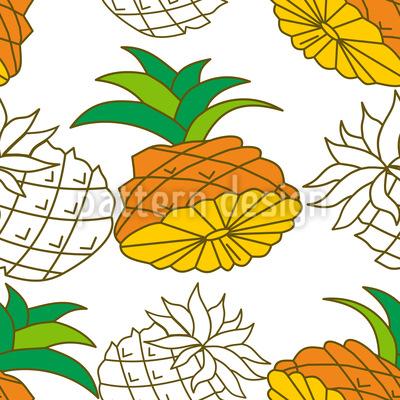 Ananasstücke Rapportiertes Design