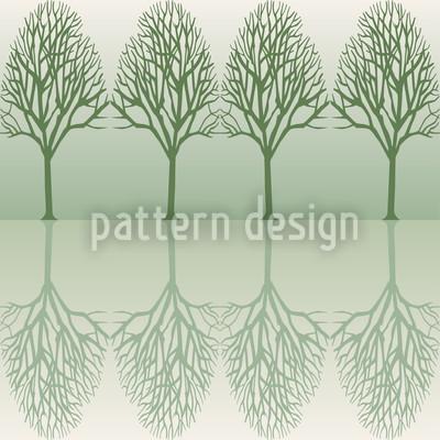 Baumallee Grün Rapportiertes Design