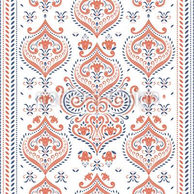 Oriental Border Seamless Vector Pattern Design