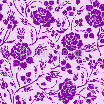Verwickelte Rosen Vektor Muster
