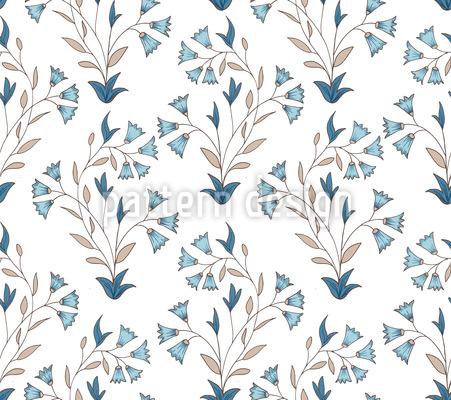 Pequenas flores indianas Design de padrão vetorial sem costura