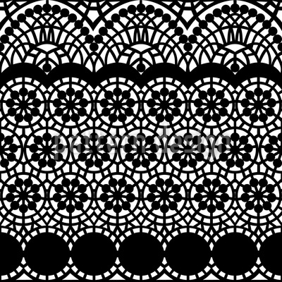 Alhambra Black Vector Ornament