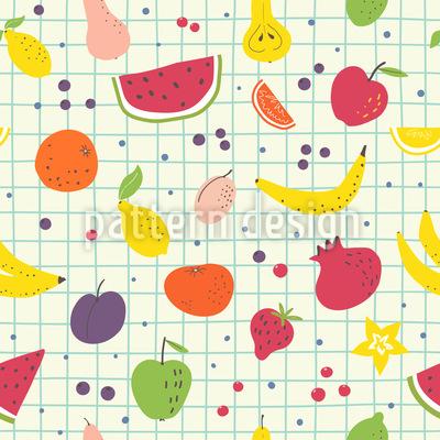 Frutas Pintadas Design de padrão vetorial sem costura