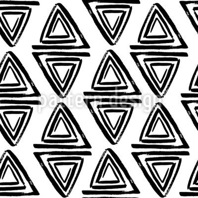 Espiral Triangular Design de padrão vetorial sem costura